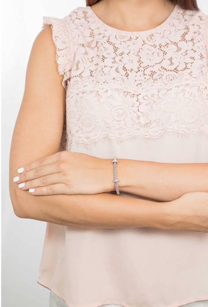 Rebecca Silver Bracelet, Silver Spacers