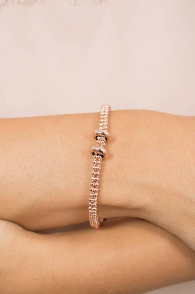 Rebecca Rose Gold Bracelet, Rose Gold Spacers