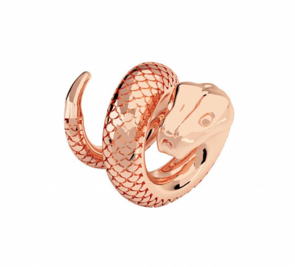 Rebecca Snake Charm, Rose Gold