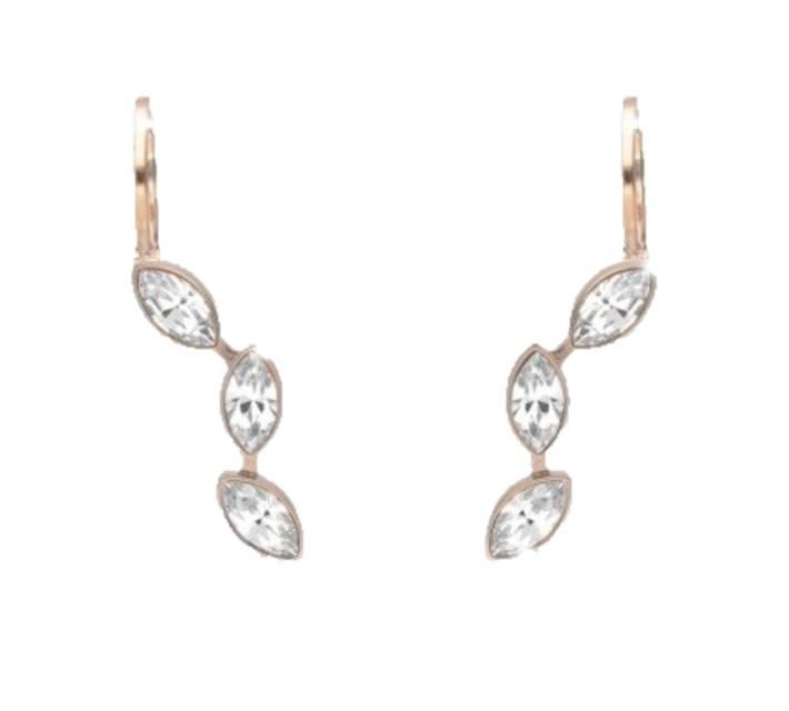 Rebecca Swarovski Crystal Earrings, Gold