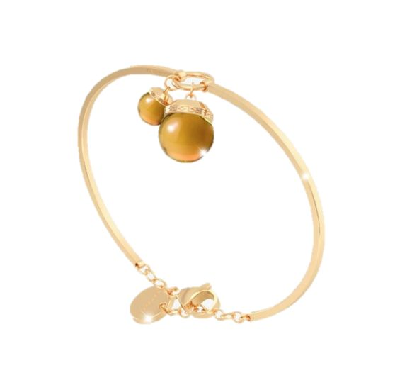 Rebecca Hollywood Stone Bar  Bracelet, Citrine and  Gold