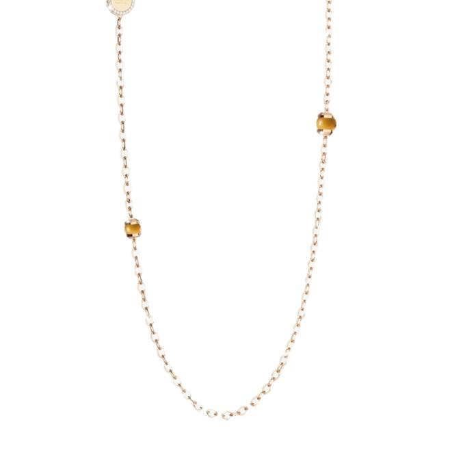 Rebecca Hollywood Stone Necklace, Citrine and Gold