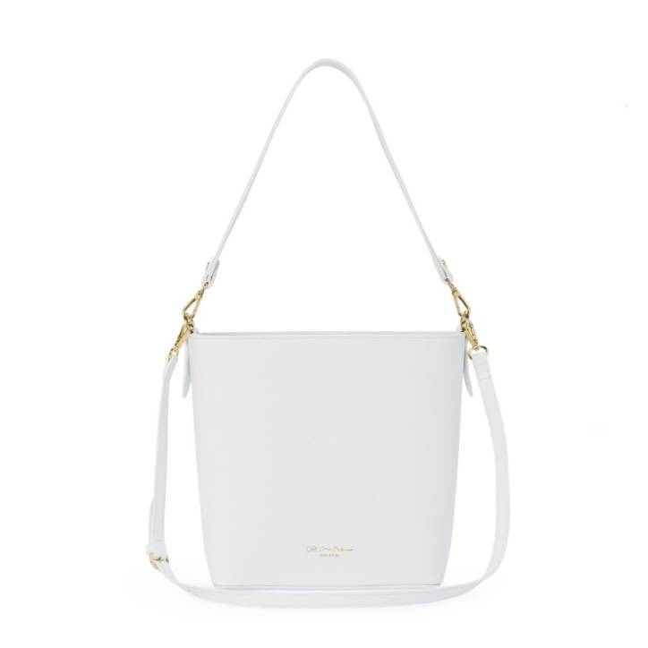 Cruciani Bucket Bag Twin, White