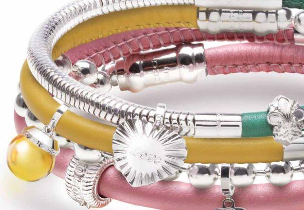 Rebecca Double Wrap Leather Bracelet, Yellow