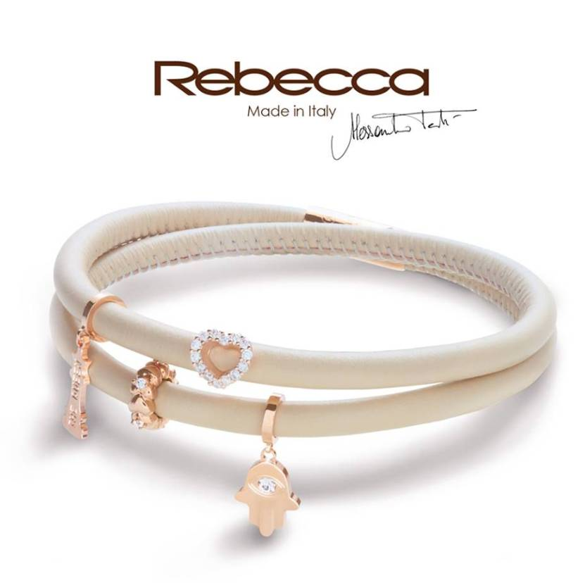 Rebecca Single Wrap Leather Bracelet, Ivory