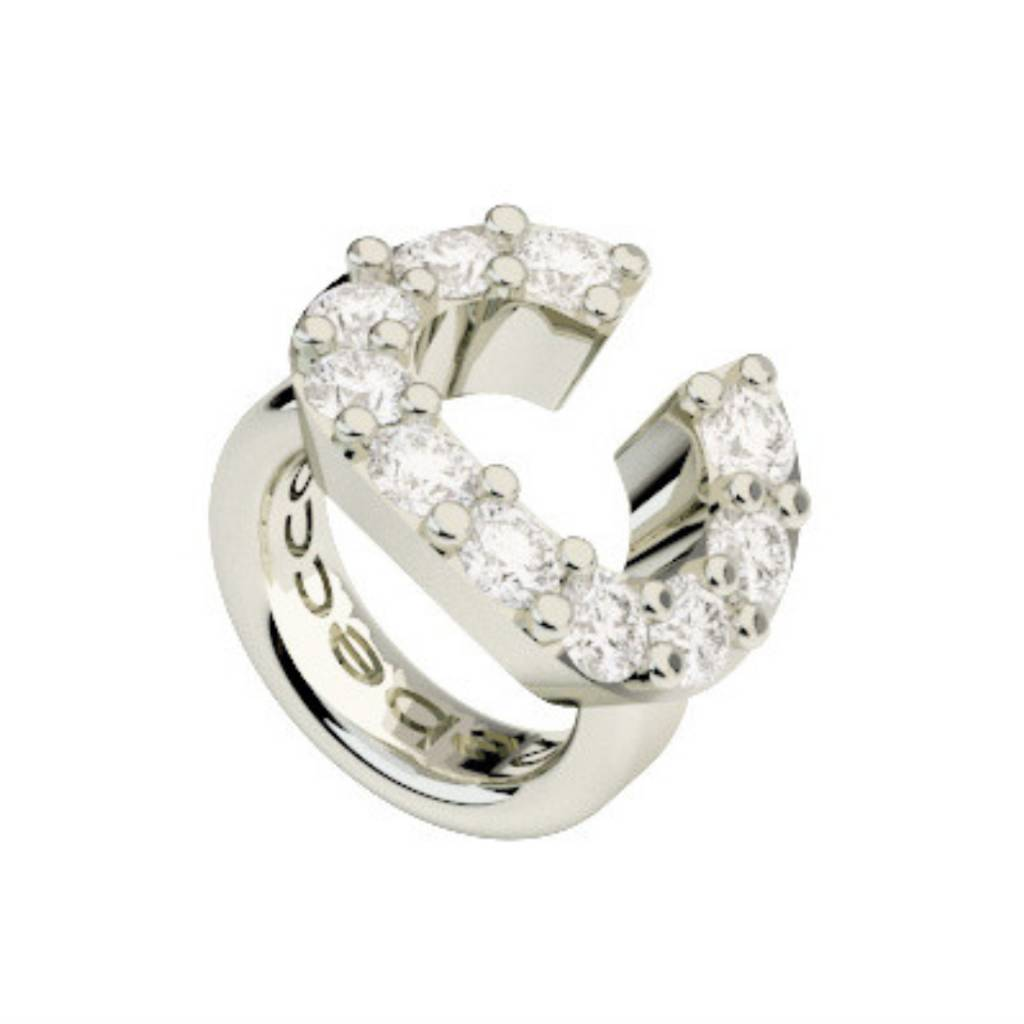 Crystal C Ring Charm