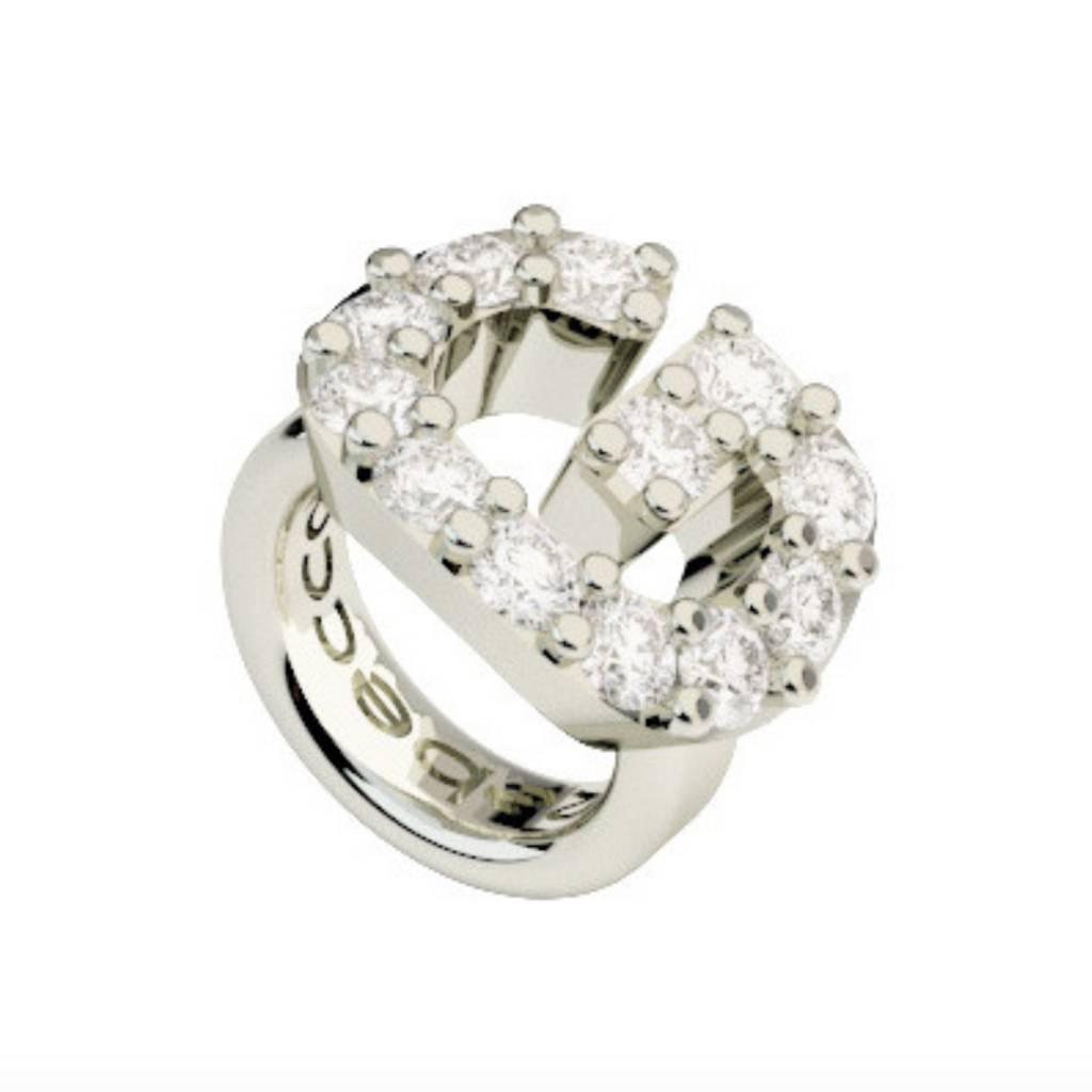 Rebecca Crystal G Ring Charm