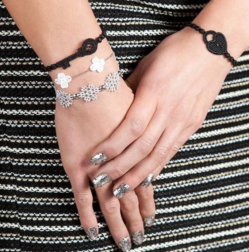 Cruciani Ash Gray Lock and Key  Bracelets