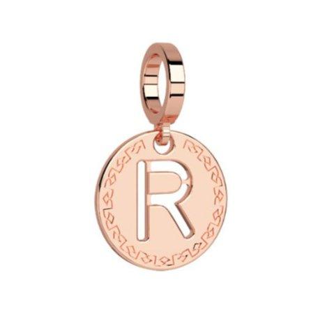 Rebecca Rose Gold Pendant Charm, Letter R