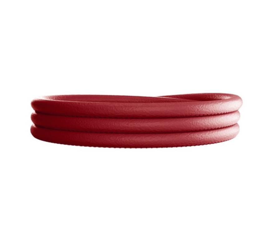 Rebecca Triple Wrap Leather  Bracelet, Hot Pink