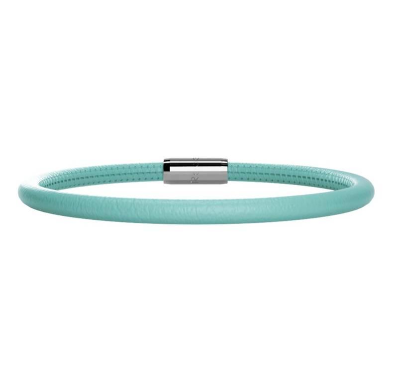 Rebecca Single Wrap Leather Bracelet, Bright Blue/Teal