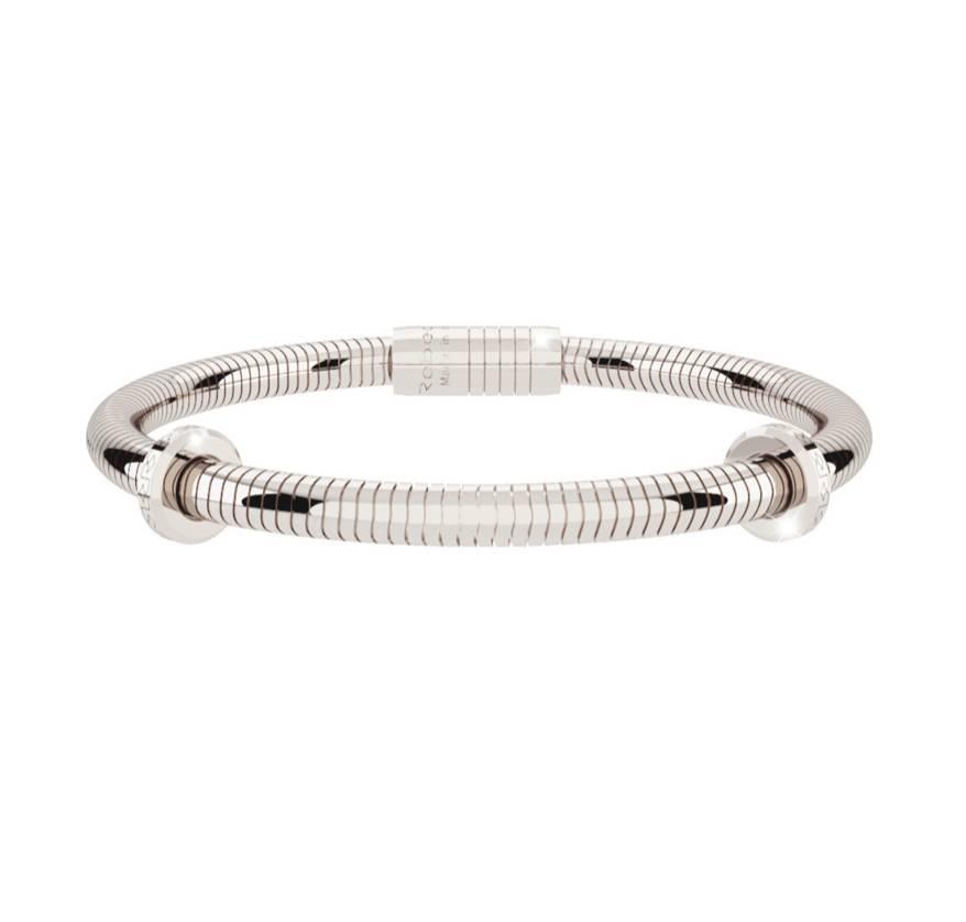 Rebecca Silver Snake Style Bracelet