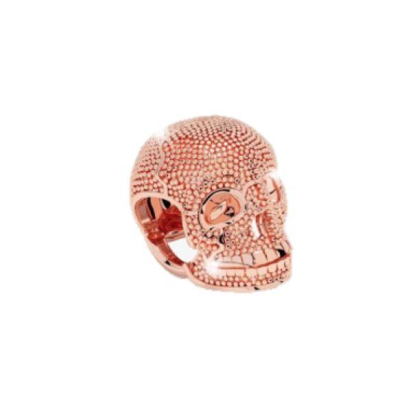 Rebecca Rose Gold Skull Charm