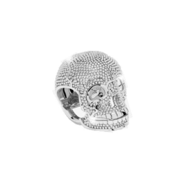 Rebecca Silver Skull Charm