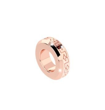 Rebecca Rose Gold Embossed Spacer Ring