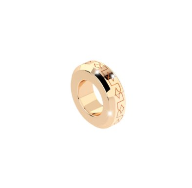 Rebecca Gold Embossed Spacer Ring