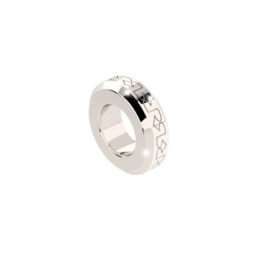 Rebecca Silver Embossed Spacer Ring