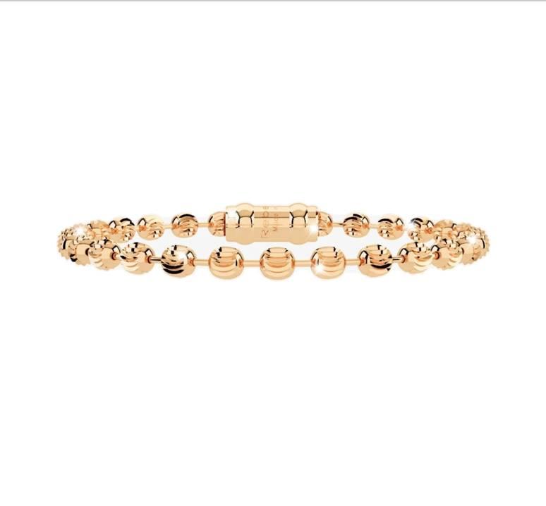 Rebecca Gold Engraved Spheres Bracelet