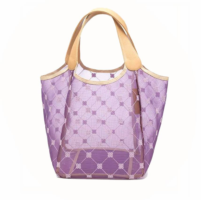 Cruciani Milano City Tulle Bag, Small, Lilac/ Violet