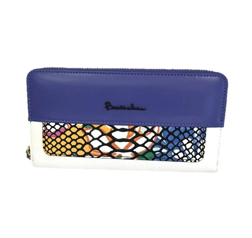 Braccialini Zip Around Wallet Blue