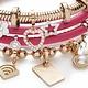 Rebecca Double Wrap Leather Bracelet, Fuschia Pink