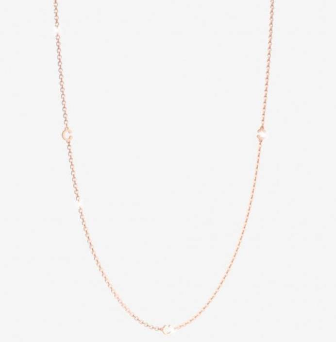 Rebecca Rose Gold  5 Charm Necklace