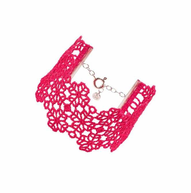 Cruciani Geranium Clover Lovers Bracelet