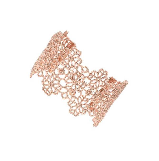 Cruciani  Powder Pink/Apricot Clover Lovers Bracelet