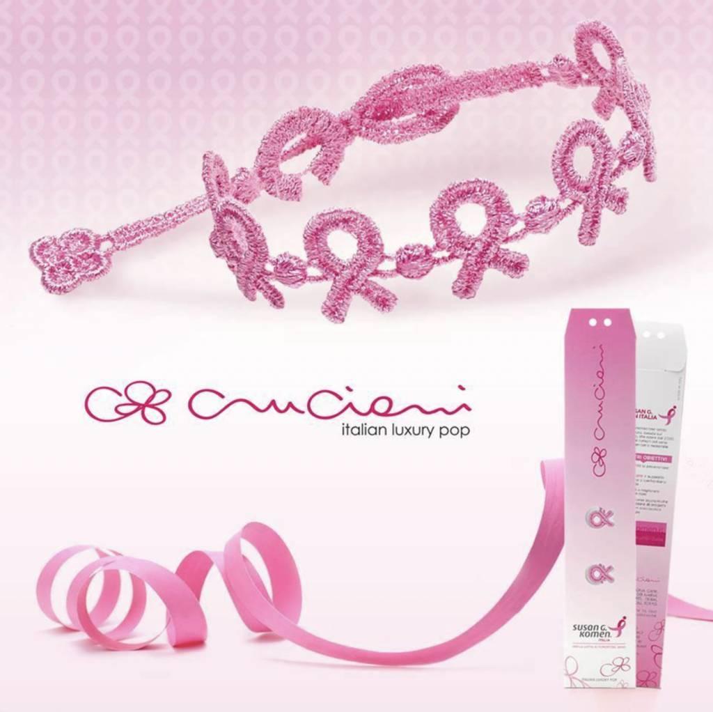 Cruciani Pink Ribbon Breast Cancer Bracelet