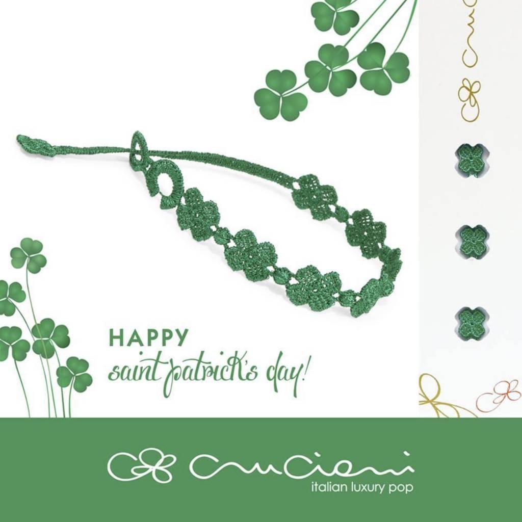 Cruciani Clover Bracelet, Green  Grass