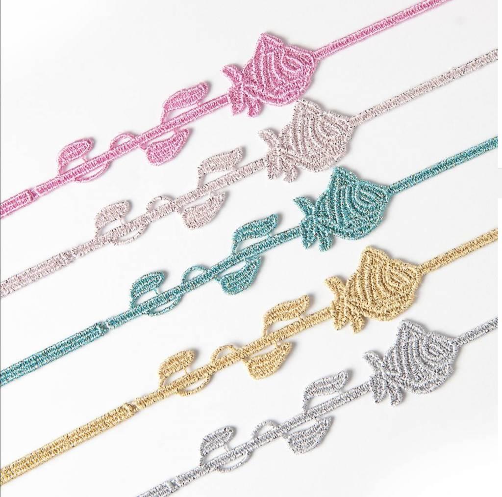 Cruciani Rose Bracelet, PerlePink Lurex