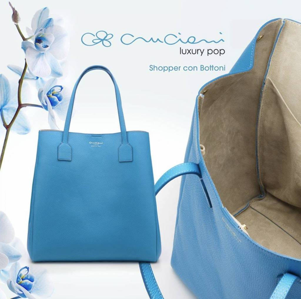 Cruciani Calfskin Shopper Bag