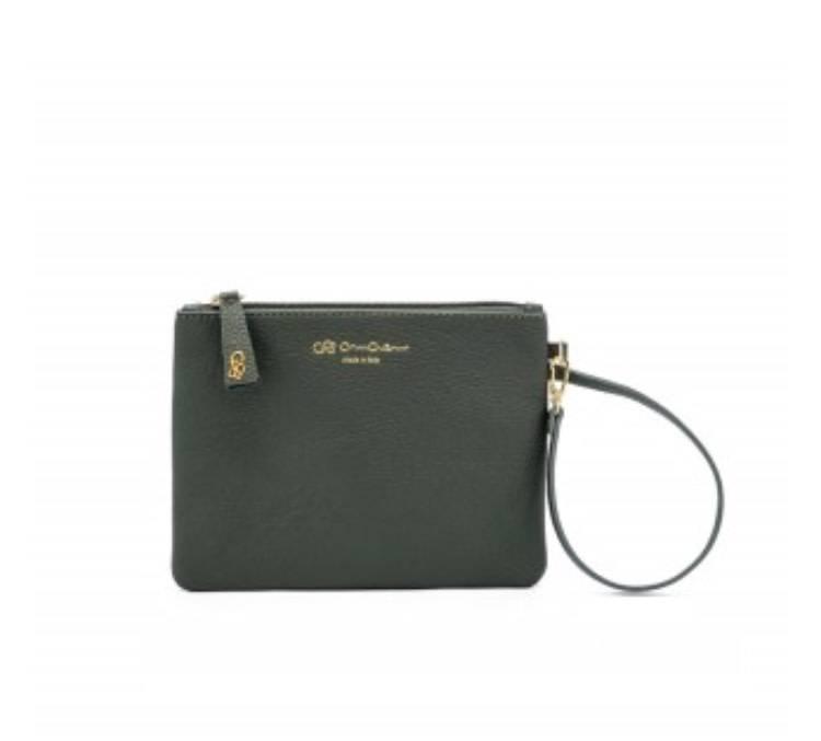 wholesale dealer 5ab01 8f401 CRUCIANI: Pochette/Wristlet - Forest Green