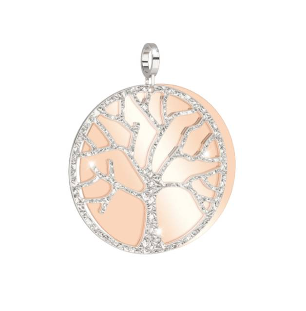 Rebecca Tree of Life Necklace, Rose Gold