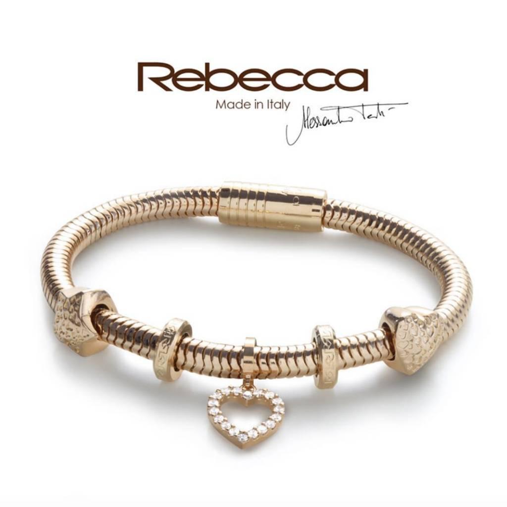 Rebecca Gold Snake Style Bracelet