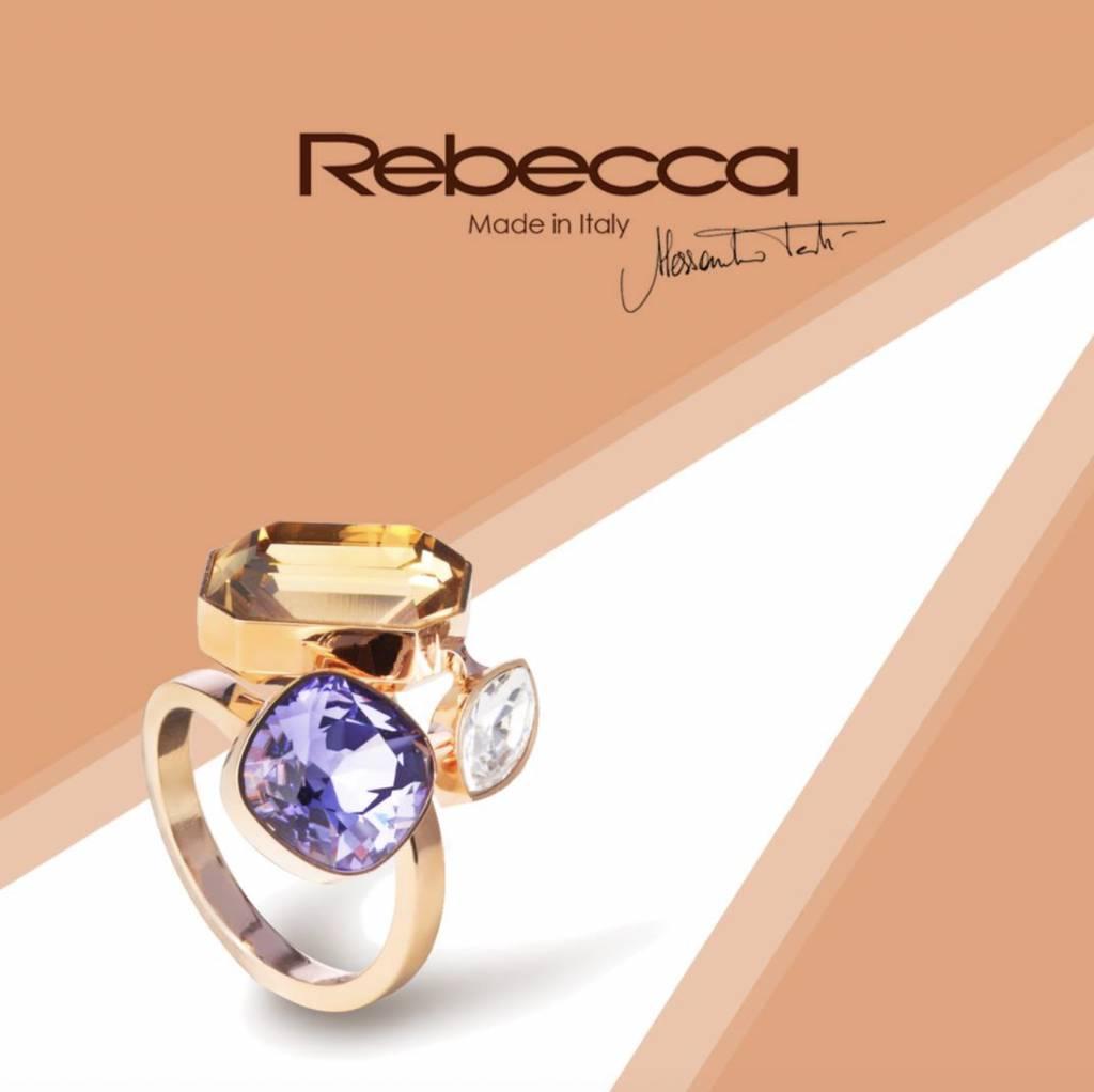 Rebecca Rose Gold Multistone Ring
