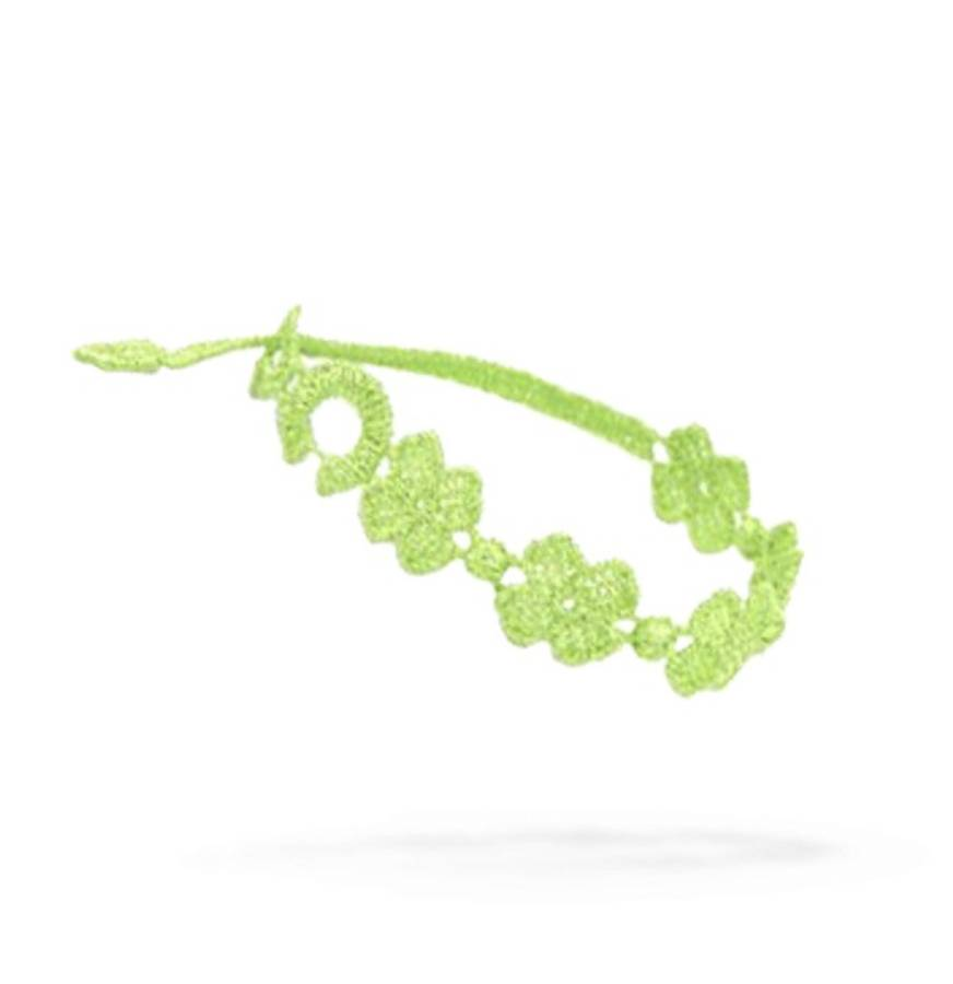 Cruciani Four-Leaf Clover Kids Bracelet, Green Grass