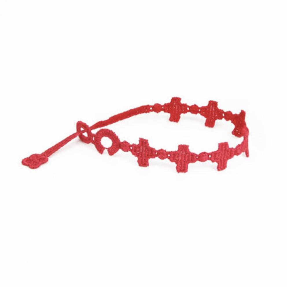 Cruciani Cross Bracelet, Red