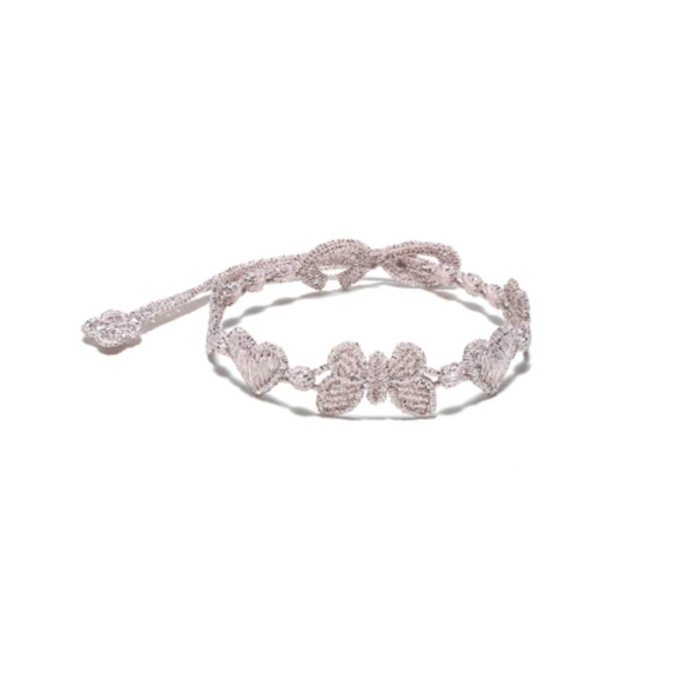 Cruciani Universe Bracelet- Heart, Butterfly and Clover,  Pearl Pink