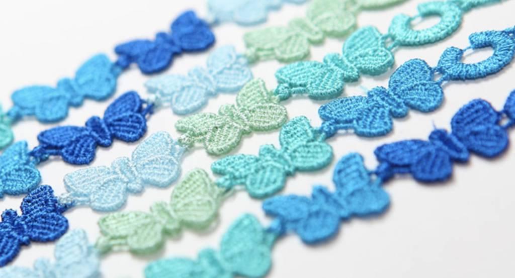 Cruciani Multicolor Blue Butterfly Bracelet