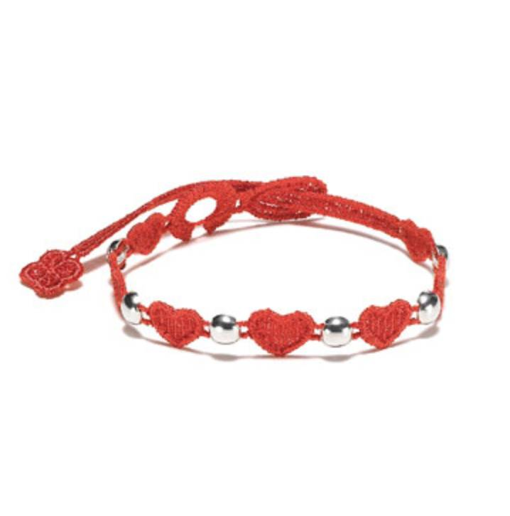 Cruciani Heartbeat Jewels Bracelet, Red