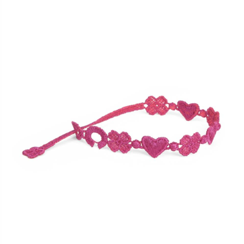 Cruciani Love and Luck Bracelet, Raspberry