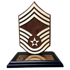 Chevron Rank Award Base and Plate