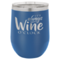 Polar Camel 12 oz. Matte Royal Blue Vacuum Insulated Stemless Wine Glass w/Lid