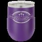 Polar Camel 12oz. Matte Purple Vacuum Insulated Stemless Wine Glass w/Lid