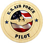 """Morgan House AF Pilot Medium Hanging wall tribute with picture underneath cutout area, 5.75"""" circle area..."""