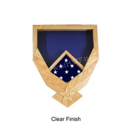 Morgan House Shadow Box in the shape of the Air Force Wings..3x5 Flag Size