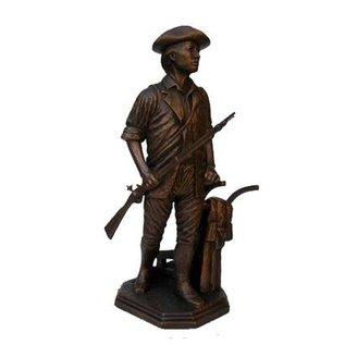 "Terrance Patterson P279.5 - Small Minuteman Statue  - 13"""