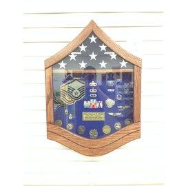 Morgan House Air Force MSgt Shadow Box