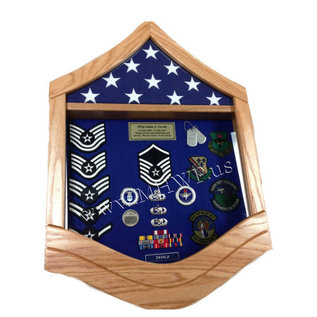 Morgan House Air Force MSgt Shadow Box